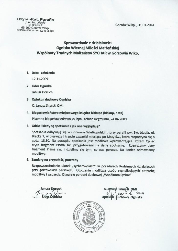 sprawozdanie 2013 Gorzów